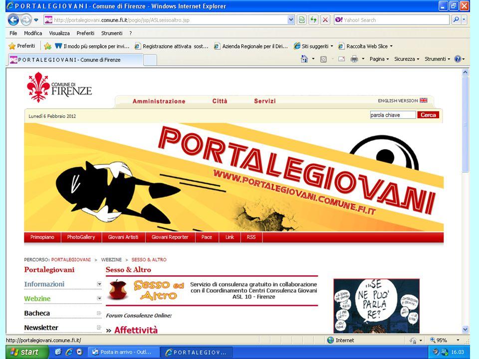 """. Collaborazione con Portale Giovani Comune di Firenze: Consultorio on-line """"SessoedAltro"""""""