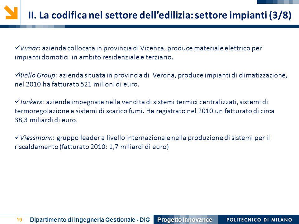 19 Vimar: azienda collocata in provincia di Vicenza, produce materiale elettrico per impianti domotici in ambito residenziale e terziario. Riello Grou