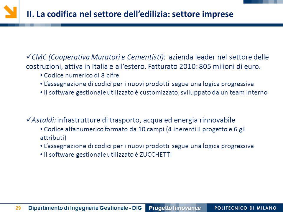 29 CMC (Cooperativa Muratori e Cementisti): azienda leader nel settore delle costruzioni, attiva in Italia e all'estero. Fatturato 2010: 805 milioni d