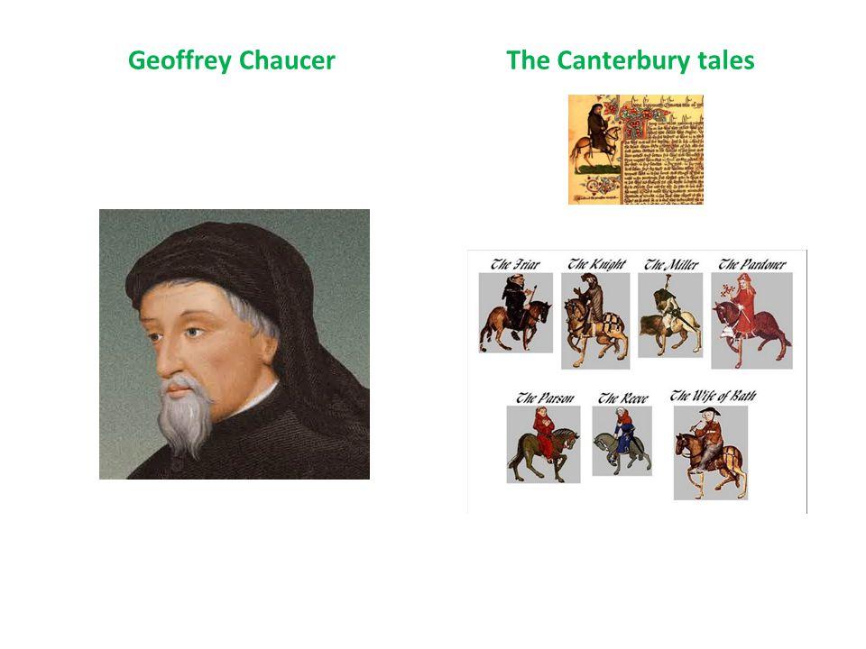 Geoffrey ChaucerThe Canterbury tales