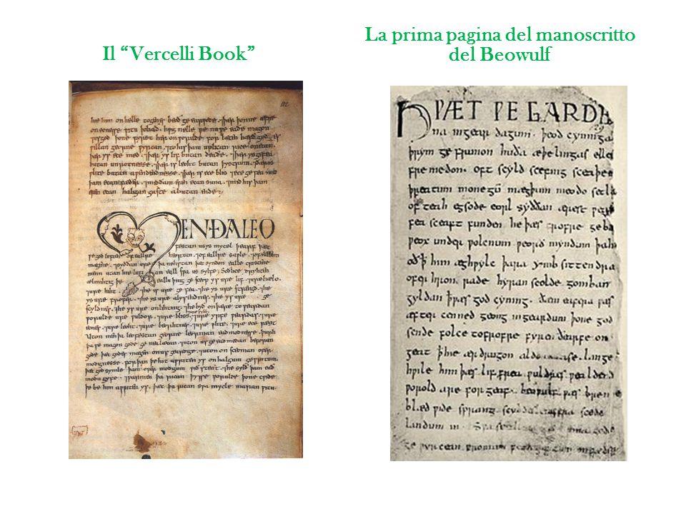 Il Vercelli Book La prima pagina del manoscritto del Beowulf