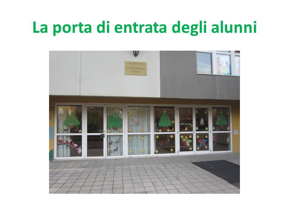 La porta di entrata degli alunni