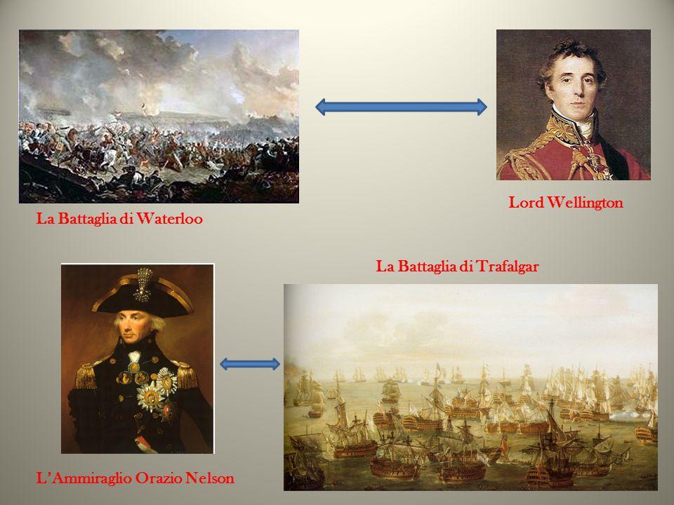 La Battaglia di Trafalgar La Battaglia di Waterloo Lord Wellington L'Ammiraglio Orazio Nelson