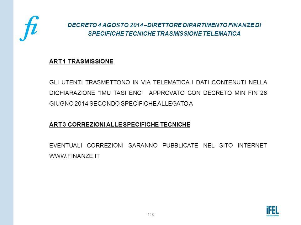 """ART 1 TRASMISSIONE GLI UTENTI TRASMETTONO IN VIA TELEMATICA I DATI CONTENUTI NELLA DICHIARAZIONE """"IMU TASI ENC"""" APPROVATO CON DECRETO MIN FIN 26 GIUGN"""