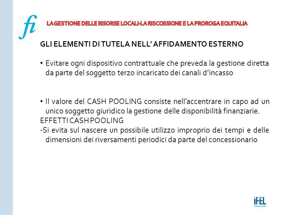 Pagina 193ROMA10/07/2013 GLI ELEMENTI DI TUTELA NELL' AFFIDAMENTO ESTERNO Evitare ogni dispositivo contrattuale che preveda la gestione diretta da par