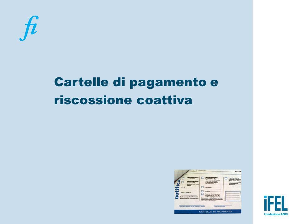 Cartelle di pagamento e riscossione coattiva