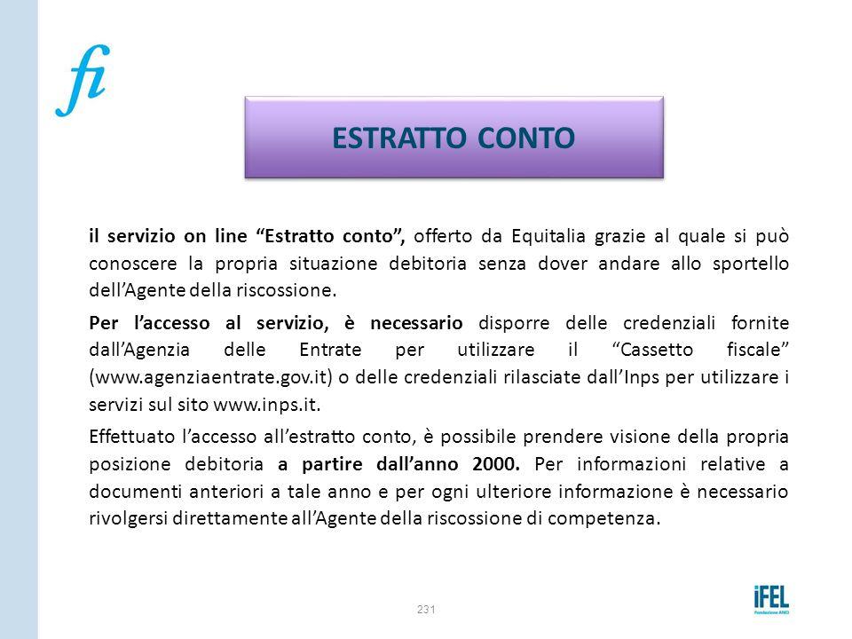 """il servizio on line """"Estratto conto"""", offerto da Equitalia grazie al quale si può conoscere la propria situazione debitoria senza dover andare allo sp"""