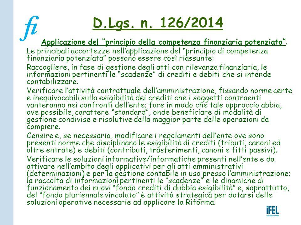 """Applicazione del """"principio della competenza finanziaria potenziata"""". Le principali accortezze nell'applicazione del """"principio di competenza finanzia"""