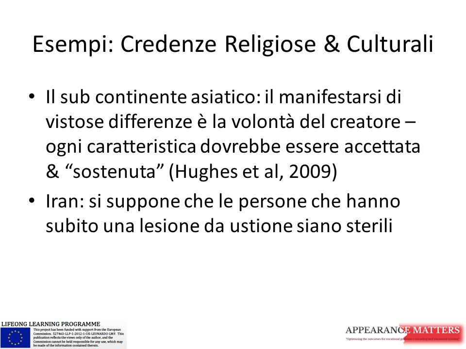 Esempi: Credenze Religiose & Culturali Il sub continente asiatico: il manifestarsi di vistose differenze è la volontà del creatore – ogni caratteristi
