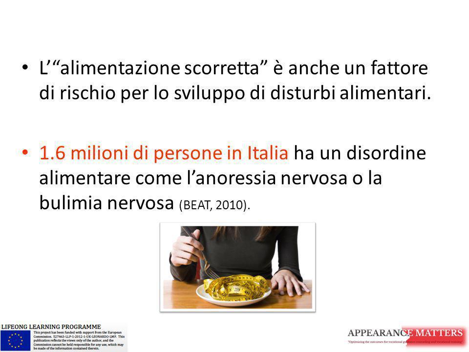 """L'""""alimentazione scorretta"""" è anche un fattore di rischio per lo sviluppo di disturbi alimentari. 1.6 milioni di persone in Italia ha un disordine ali"""