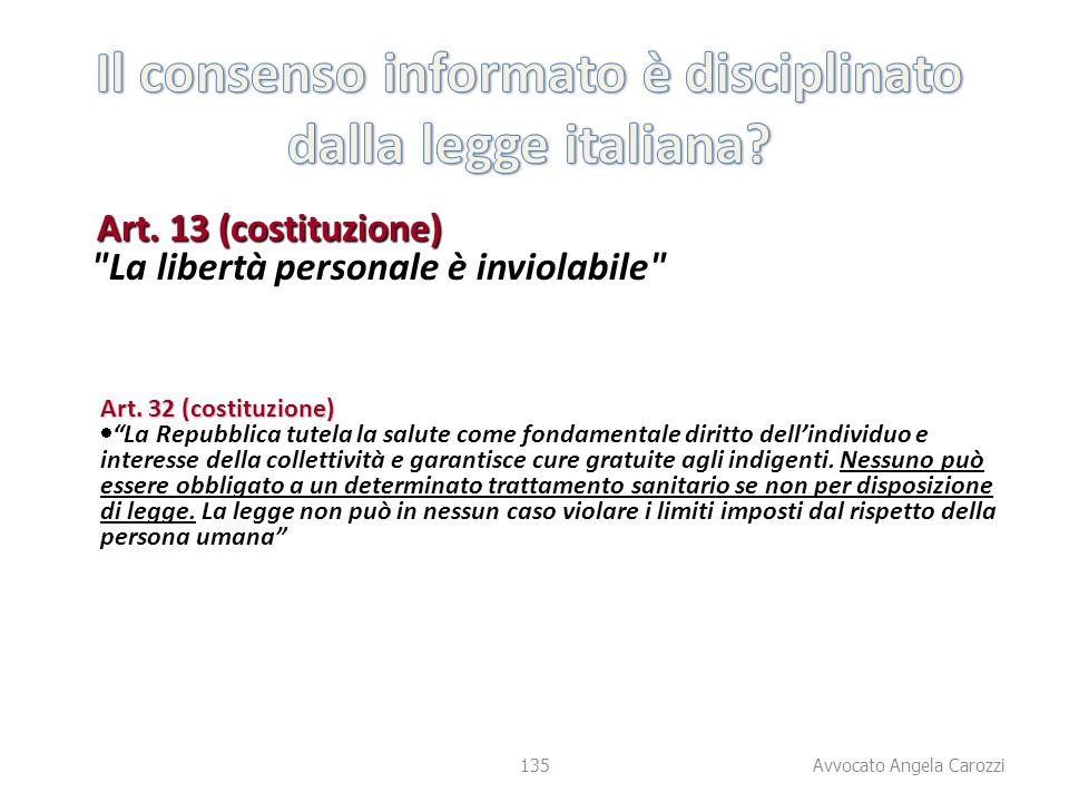135 Art. 13 (costituzione)