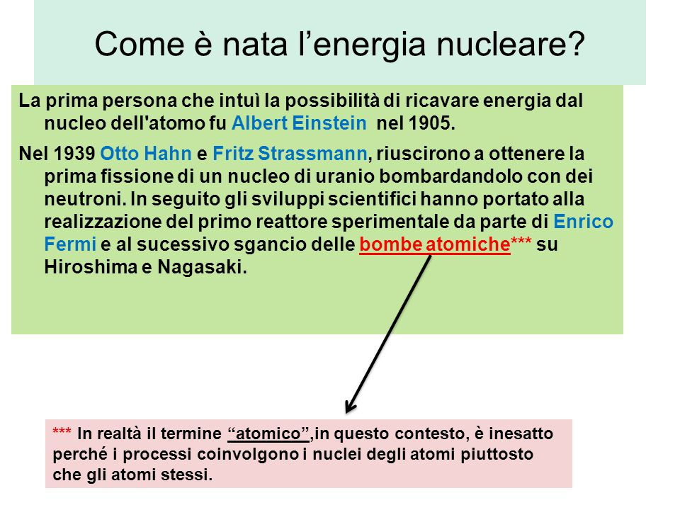 Una curiosità … Lise Meinter fu in grado di dare una spiegazione teorica alla fissione nucleare, ma non le venne mai riconosciuto il suo contributo.