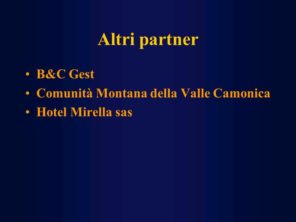 Altri partner B&C Gest Comunità Montana della Valle Camonica Hotel Mirella sas
