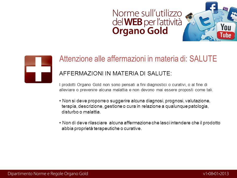 AFFERMAZIONI IN MATERIA DI SALUTE: I prodotti Organo Gold non sono pensati a fini diagnostici o curativi, o al fine di alleviare o prevenire alcuna ma