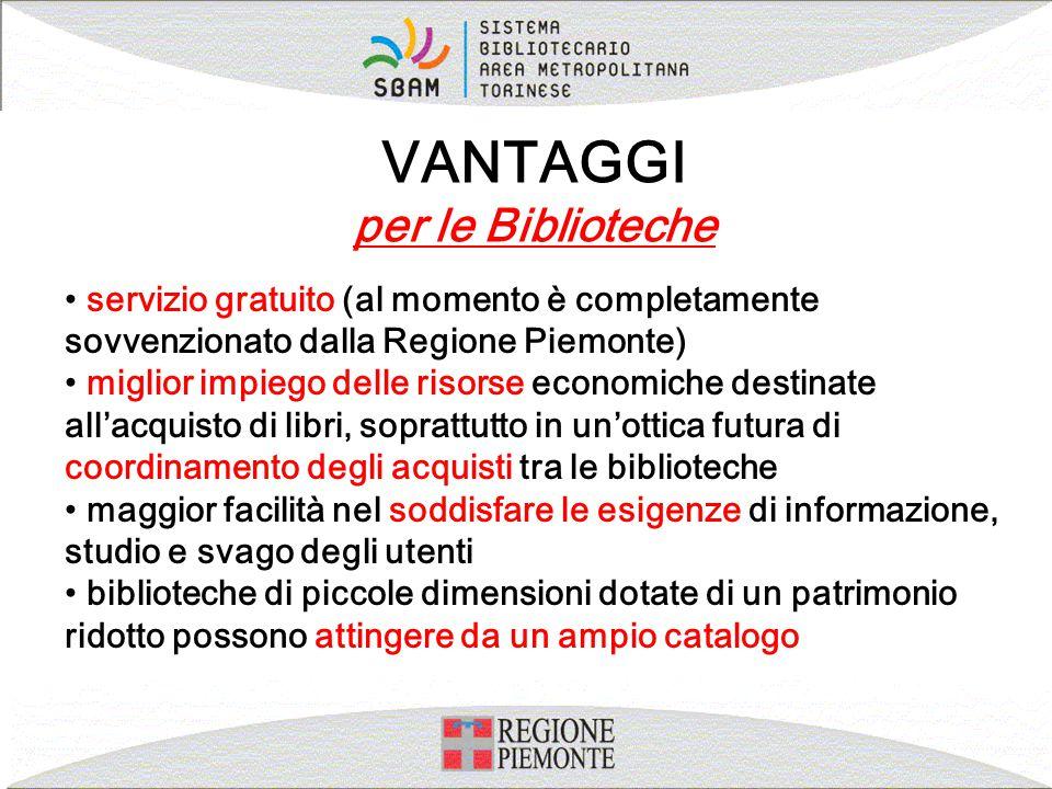 servizio gratuito (al momento è completamente sovvenzionato dalla Regione Piemonte) miglior impiego delle risorse economiche destinate all'acquisto di