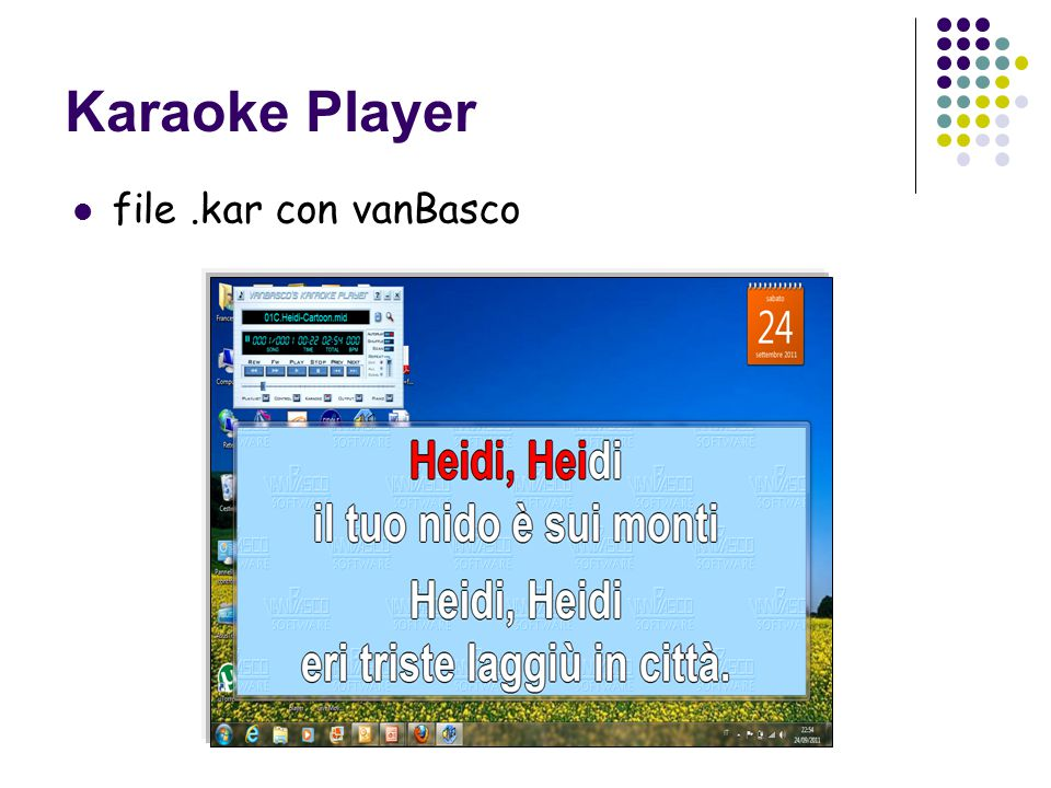 Karaoke Player file.kar con vanBasco