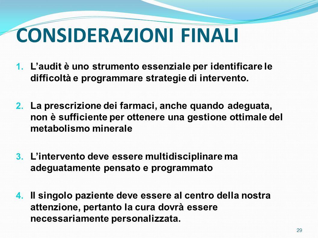 CONSIDERAZIONI FINALI 1.