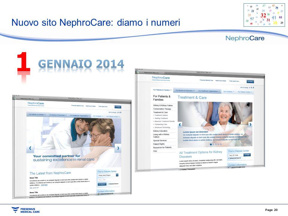 Nuovo sito NephroCare: diamo i numeri Page 20