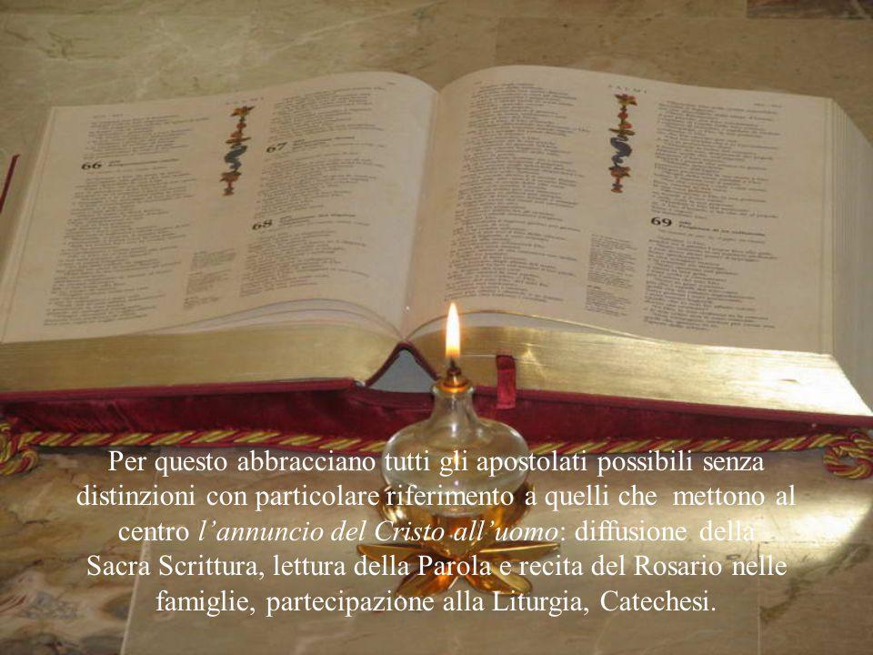 """la recita del Rosario, per fare del cuore di Maria il suo """"chiostro nel mondo"""". la Liturgia delle Ore che rende la sua vita un canto di lode a Dio e l"""