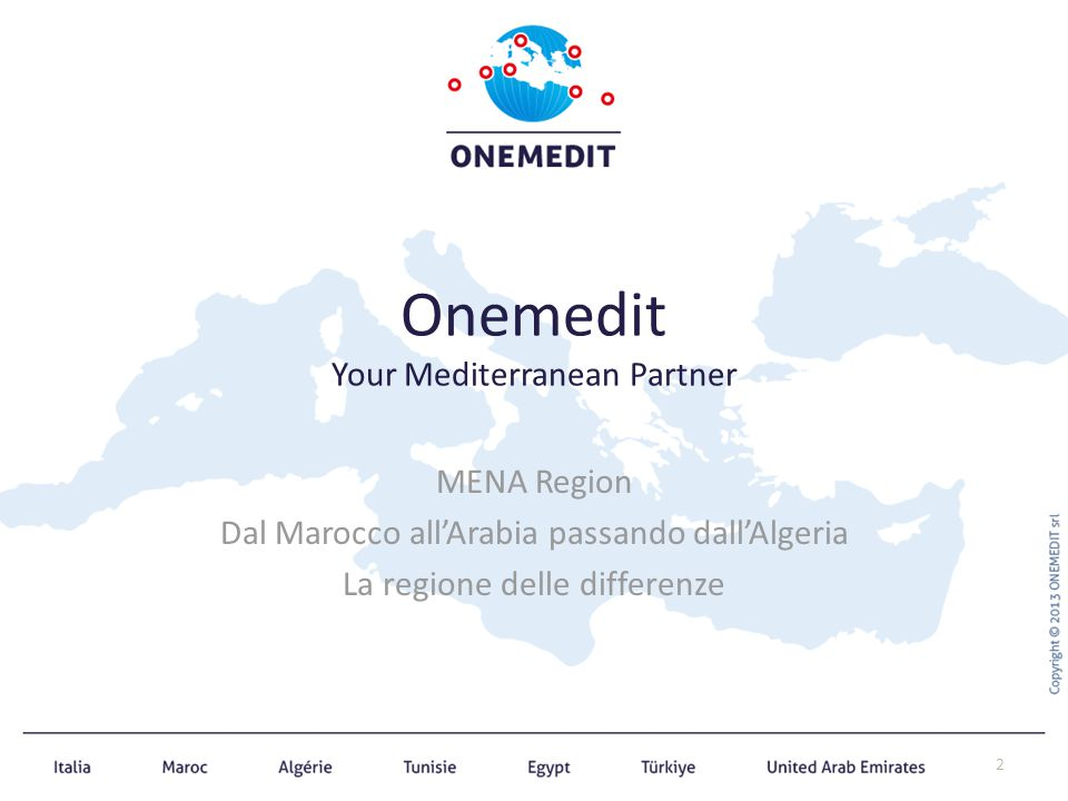 Onemedit Your Mediterranean Partner MENA Region Dal Marocco all'Arabia passando dall'Algeria La regione delle differenze 2