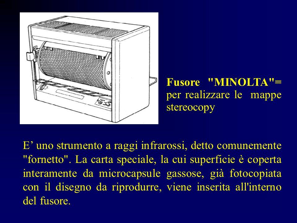 MAPPA STERECOPY detta anche MINOLTA , dal nome della ditta che ha il brevetto È una tecnica per produrre immagini in rilievo: non consente di riprodurre diversi livelli di spessore ma esclusivamente linee e campiture.