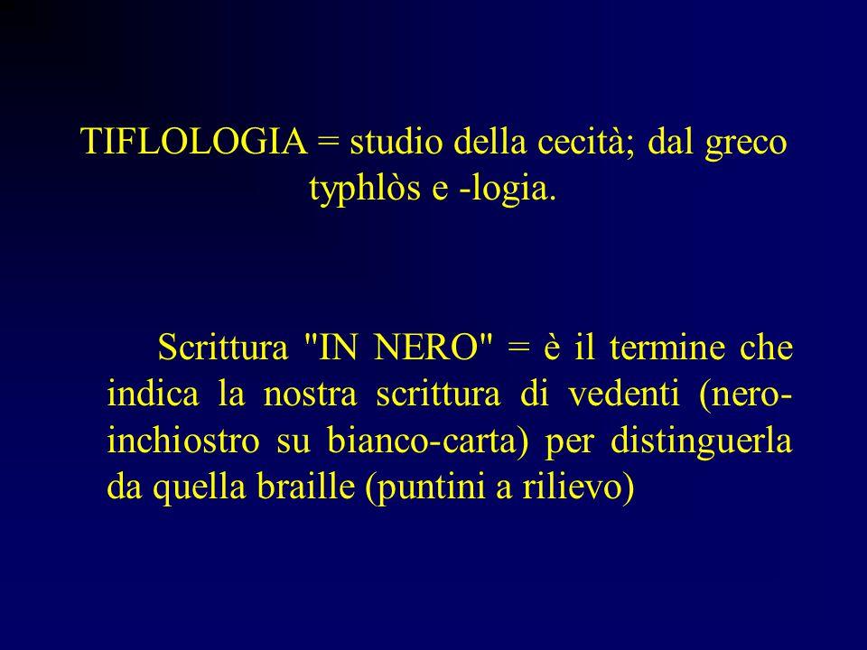 Manuela Baldeschi Supervisore SSIS - Università di Firenze Glossario dei termini tiflologici e descrizione dei principali strumenti per la letto-scrit
