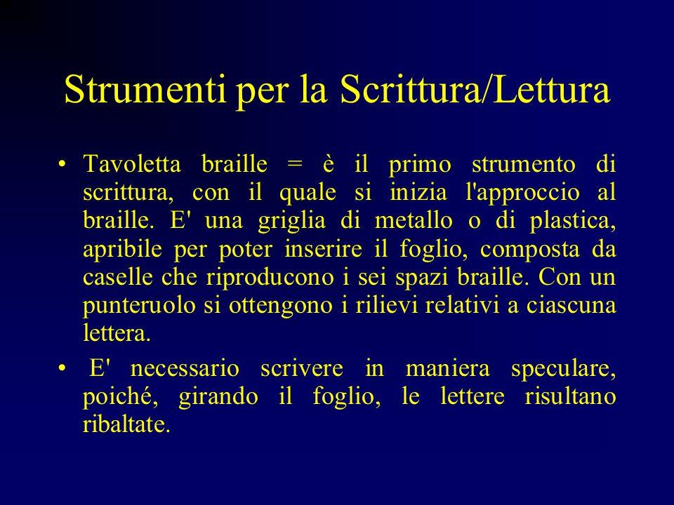 TIFLOLOGIA = studio della cecità; dal greco typhlòs e -logia. Scrittura