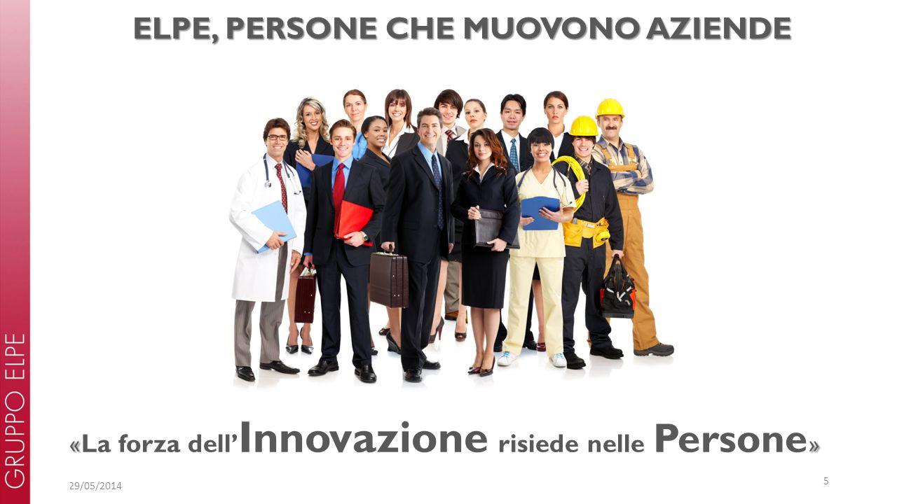 29/05/2014 5 «» « La forza dell' Innovazione risiede nelle Persone » ELPE, PERSONE CHE MUOVONO AZIENDE