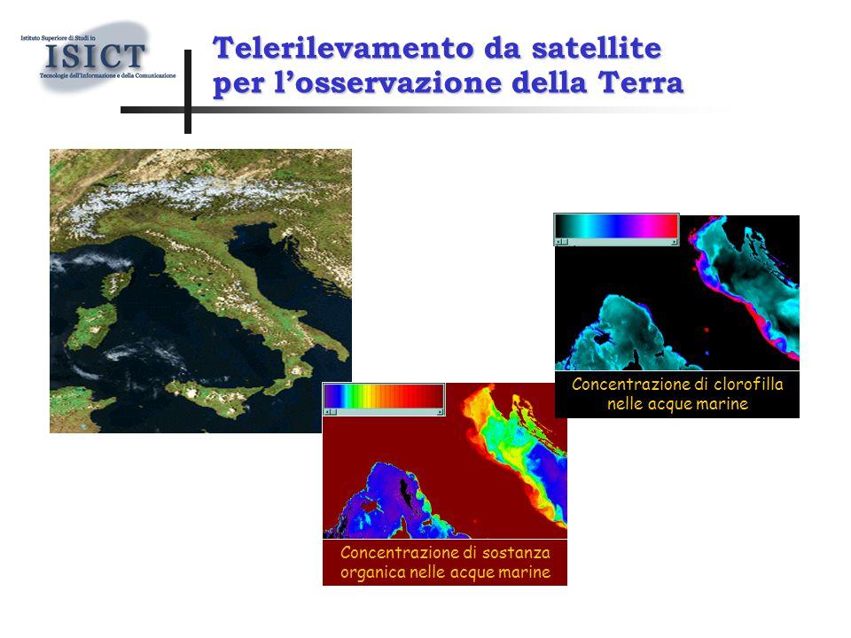 Concentrazione di sostanza organica nelle acque marine Concentrazione di clorofilla nelle acque marine Telerilevamento da satellite per l'osservazione della Terra