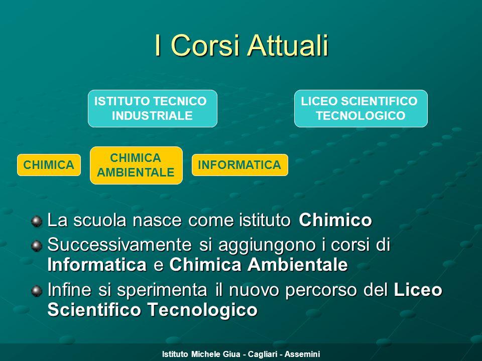Istituto Michele Giua - Cagliari - Assemini I Corsi Attuali La scuola nasce come istituto Chimico Successivamente si aggiungono i corsi di Informatica