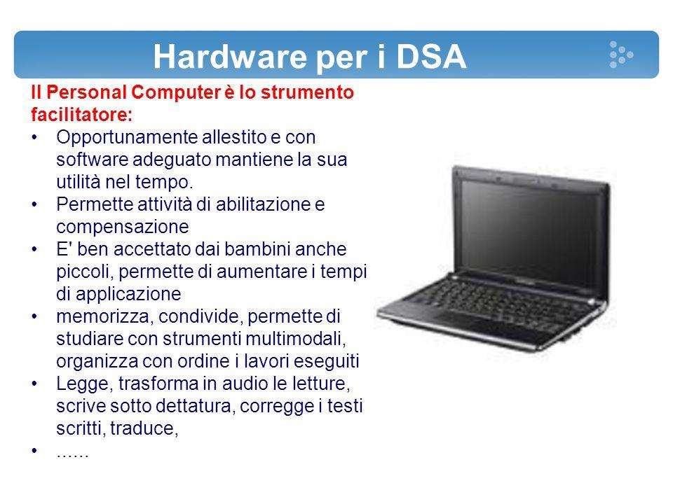Il Personal Computer è lo strumento facilitatore: Opportunamente allestito e con software adeguato mantiene la sua utilità nel tempo. Permette attivit