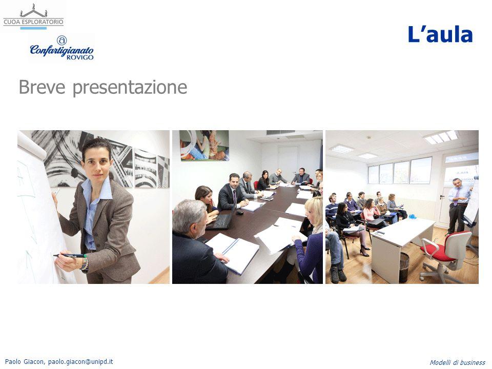 Paolo Giacon, paolo.giacon@unipd.it Modelli di business Le domande Quali attivita' chiave sono necessarie per il nostro valore offerto.