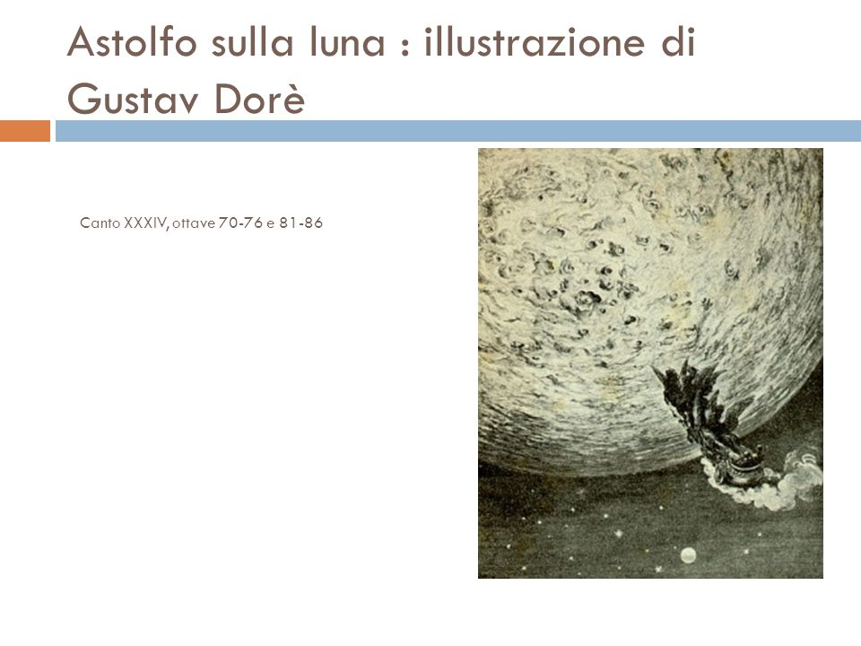 Astolfo sulla luna : illustrazione di Gustav Dorè Canto XXXIV, ottave 70-76 e 81-86