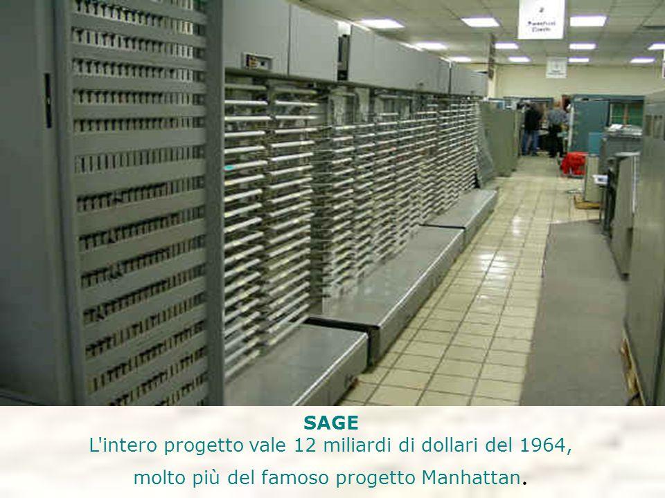 SAGE L'intero progetto vale 12 miliardi di dollari del 1964, molto più del famoso progetto Manhattan.
