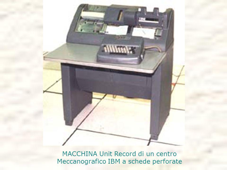 MACCHINA Unit Record di un centro Meccanografico IBM a schede perforate
