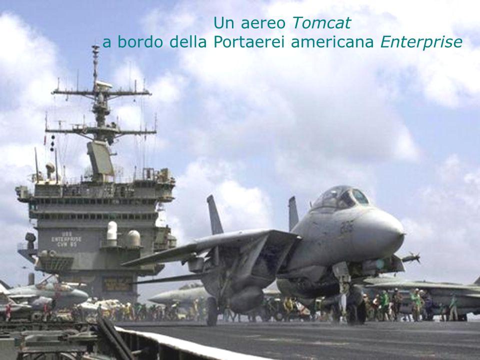 Un aereo Tomcat a bordo della Portaerei americana Enterprise