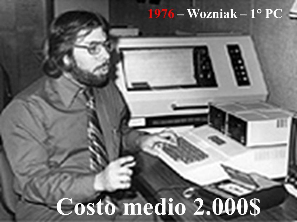 1976 – Wozniak – 1° PC Costo medio 2.000$