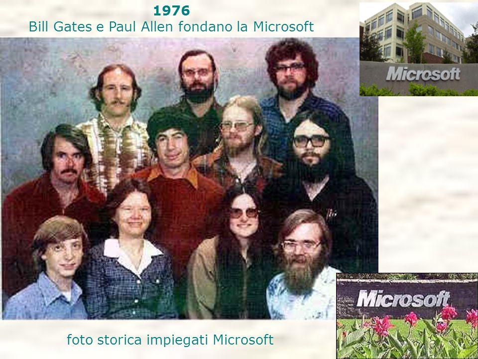 1976 Bill Gates e Paul Allen fondano la Microsoft foto storica impiegati Microsoft