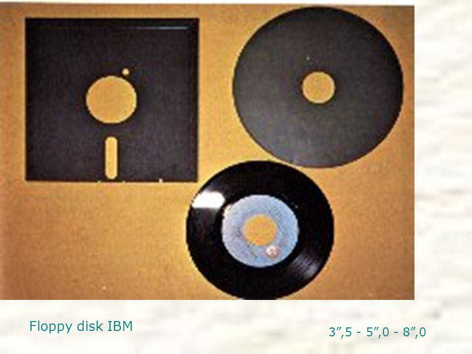 """Floppy disk IBM 3"""",5 - 5"""",0 - 8"""",0"""