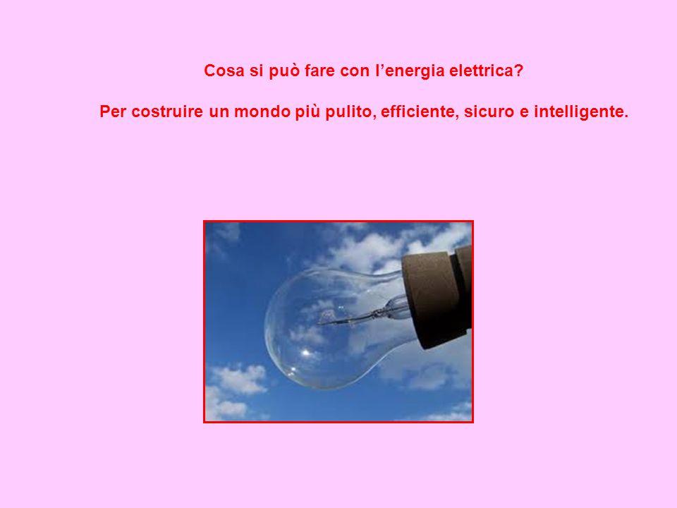 Cosa si può fare con l'energia elettrica? Per costruire un mondo più pulito, efficiente, sicuro e intelligente.