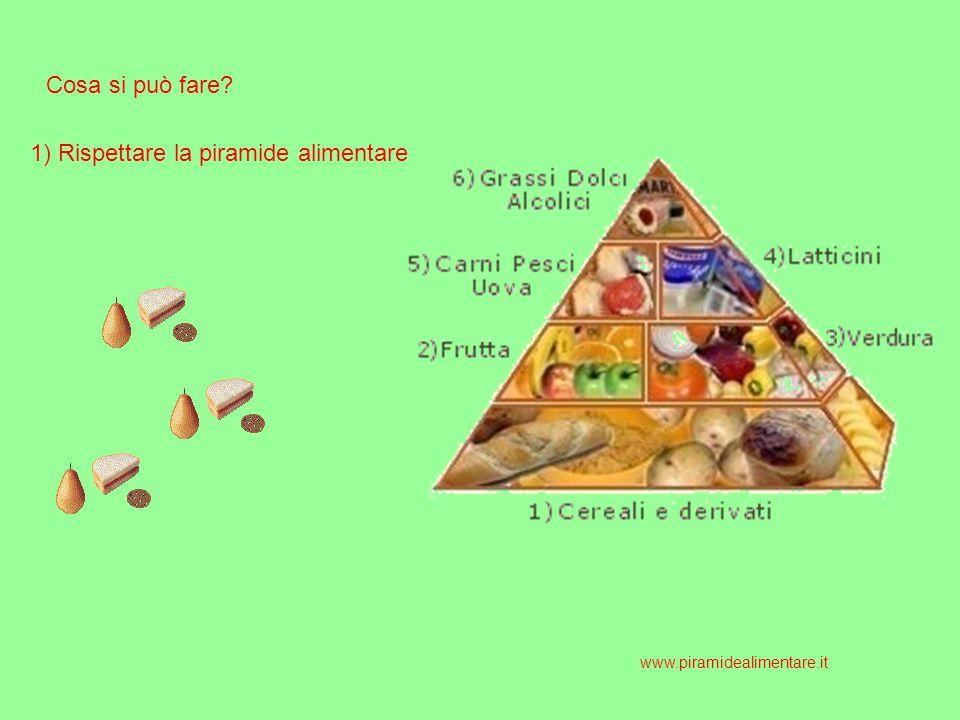 Cosa si può fare? 1) Rispettare la piramide alimentare www.piramidealimentare.it