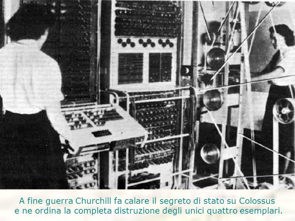 A fine guerra Churchill fa calare il segreto di stato su Colossus e ne ordina la completa distruzione degli unici quattro esemplari.