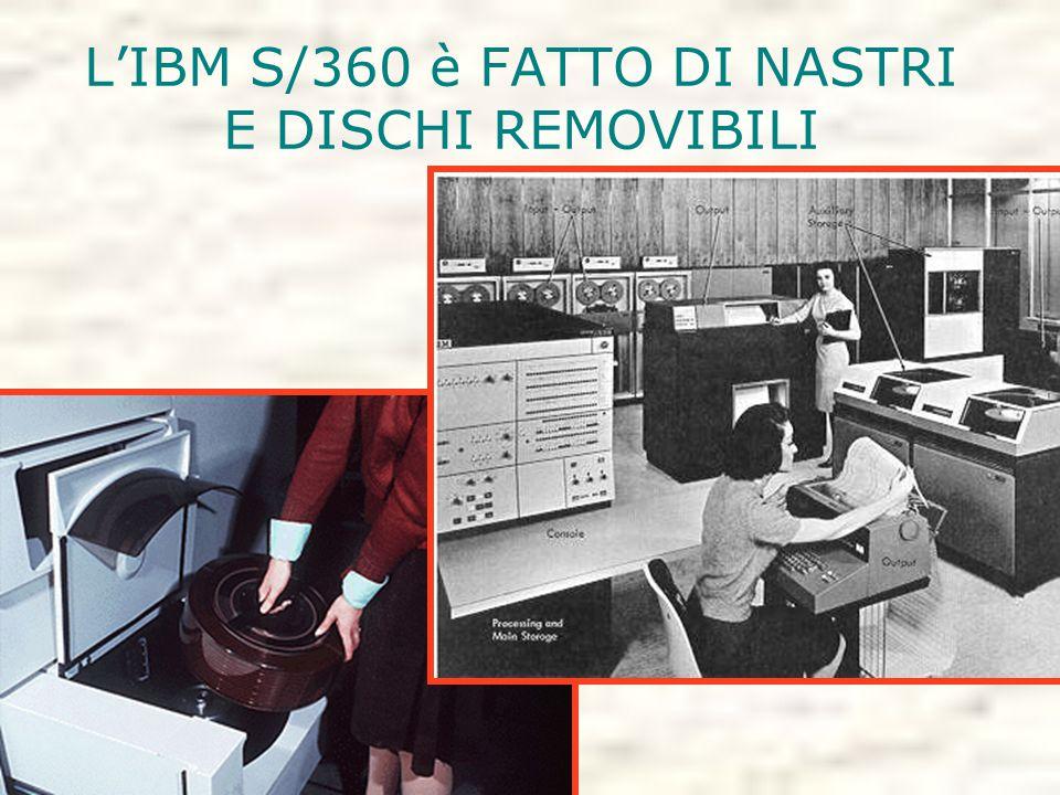 L'IBM S/360 è FATTO DI NASTRI E DISCHI REMOVIBILI