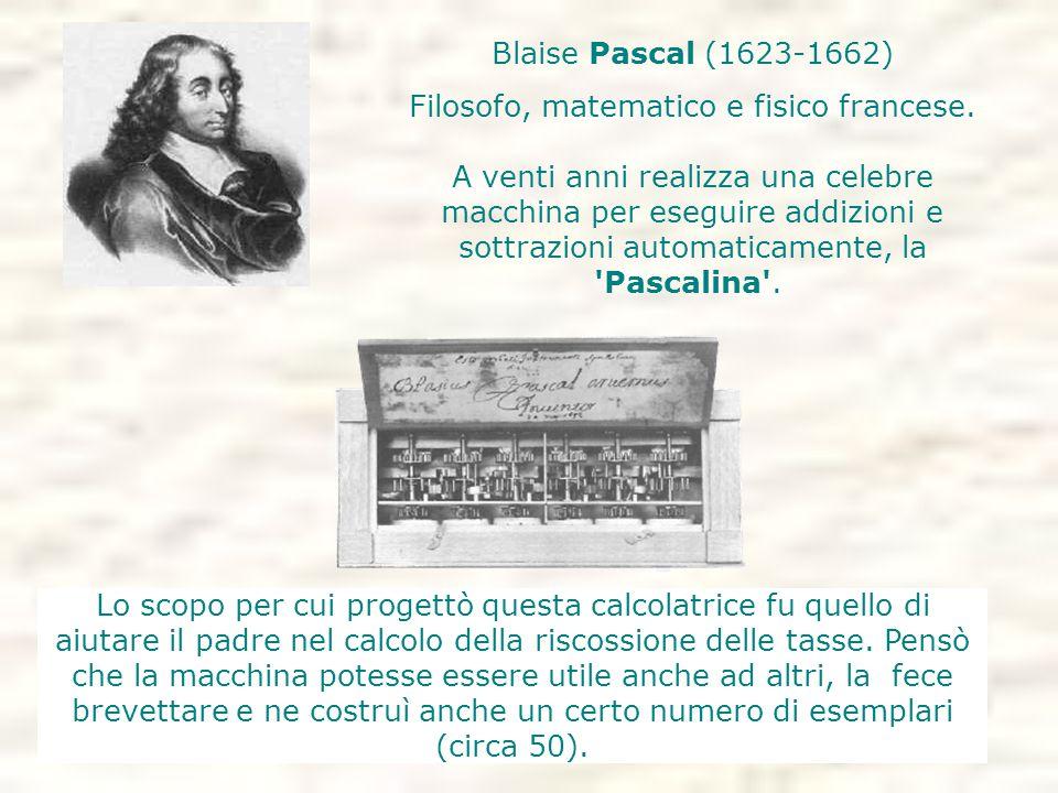 Lo scopo per cui progettò questa calcolatrice fu quello di aiutare il padre nel calcolo della riscossione delle tasse.