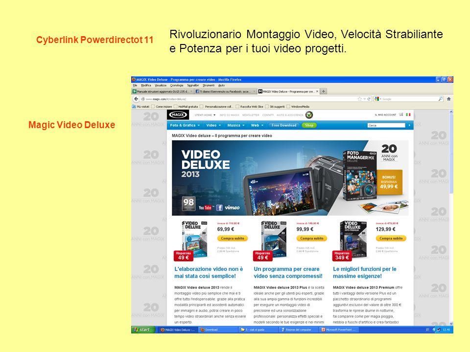 Cyberlink Powerdirectot 11 Magic Video Deluxe Rivoluzionario Montaggio Video, Velocità Strabiliante e Potenza per i tuoi video progetti.