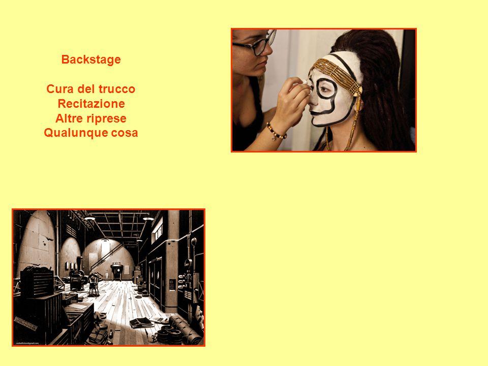 Backstage Cura del trucco Recitazione Altre riprese Qualunque cosa