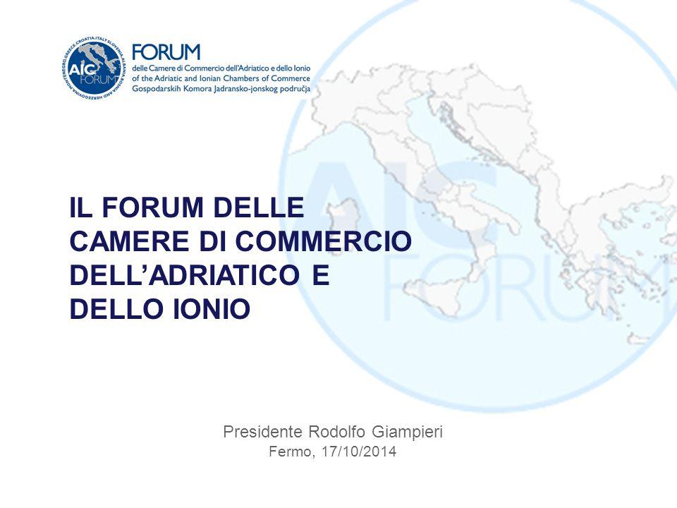 Presidente Rodolfo Giampieri Fermo, 17/10/2014 IL FORUM DELLE CAMERE DI COMMERCIO DELL'ADRIATICO E DELLO IONIO