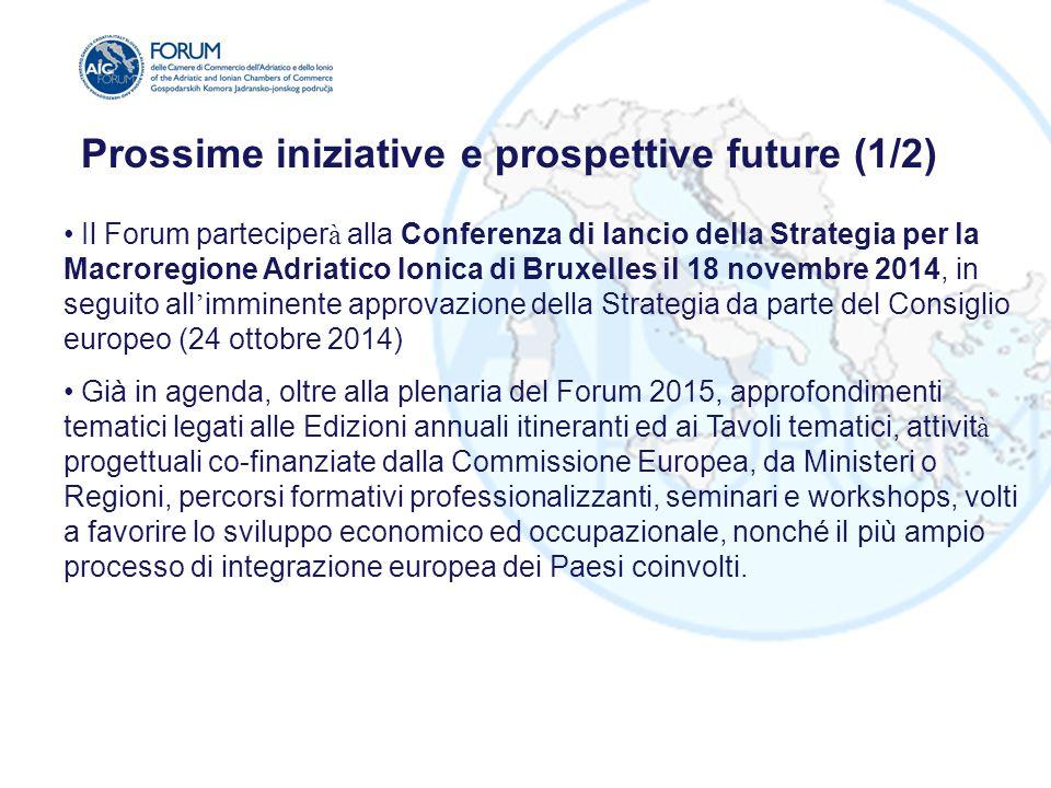 Il Forum parteciper à alla Conferenza di lancio della Strategia per la Macroregione Adriatico Ionica di Bruxelles il 18 novembre 2014, in seguito all