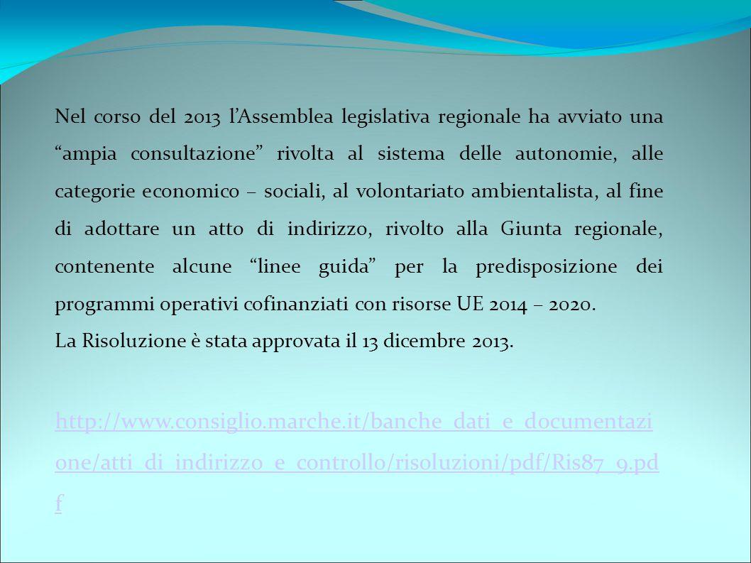 """Nel corso del 2013 l'Assemblea legislativa regionale ha avviato una """"ampia consultazione"""" rivolta al sistema delle autonomie, alle categorie economico"""