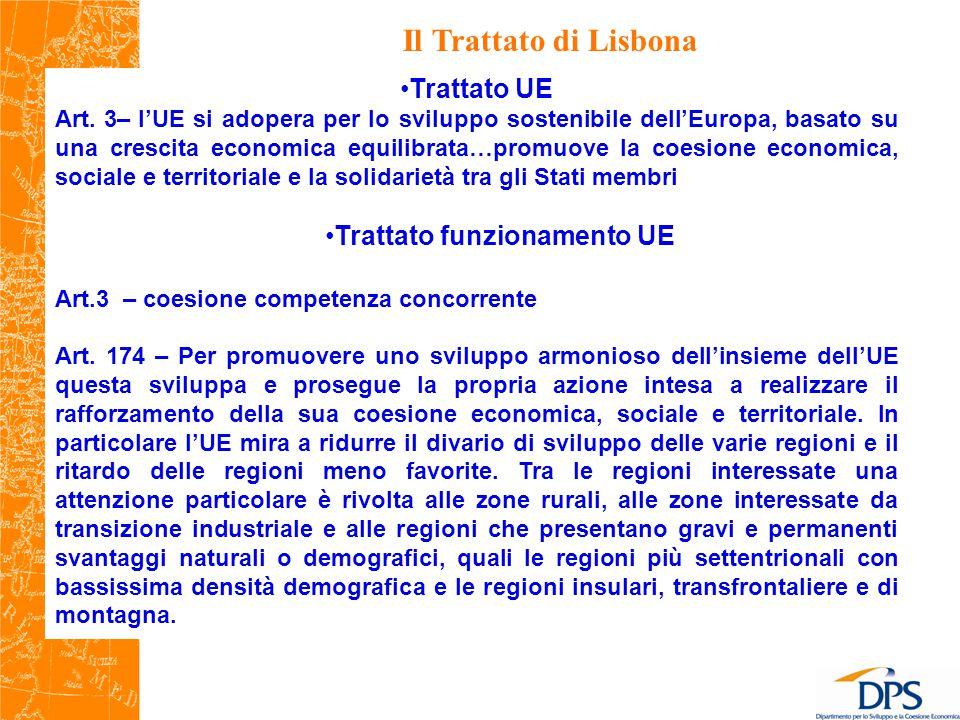 Il Trattato di Lisbona Trattato UE Art.